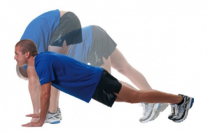Lower back and calf stretch physiotherapy
