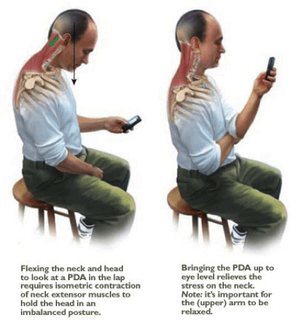 text neck pain sitting